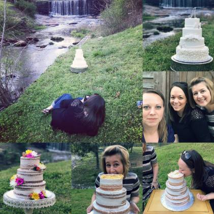 Behind the scenes fun from our shoot with Acuna's Custon Cakes